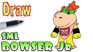 How to Draw Bowser Jr | Super Mario Logan SML