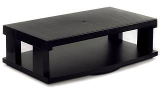Flat LCD/LED TV Swivel Stand 2-Tier Entertainment Center