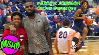 LEBRON JAMES NEPHEW DROPS DEFENDER in CRAZY COMEBACK - Meechie Johnson at Flyin To The Hoop