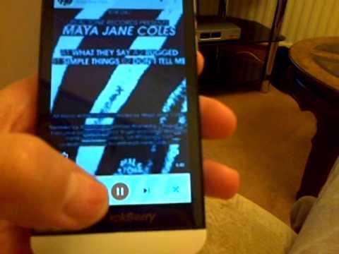 Google music running on blackberry Z10