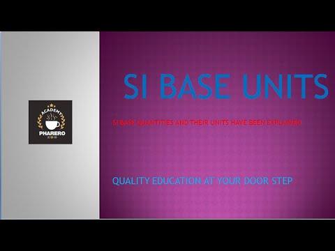 SI base units (IN URDU / HINDI)