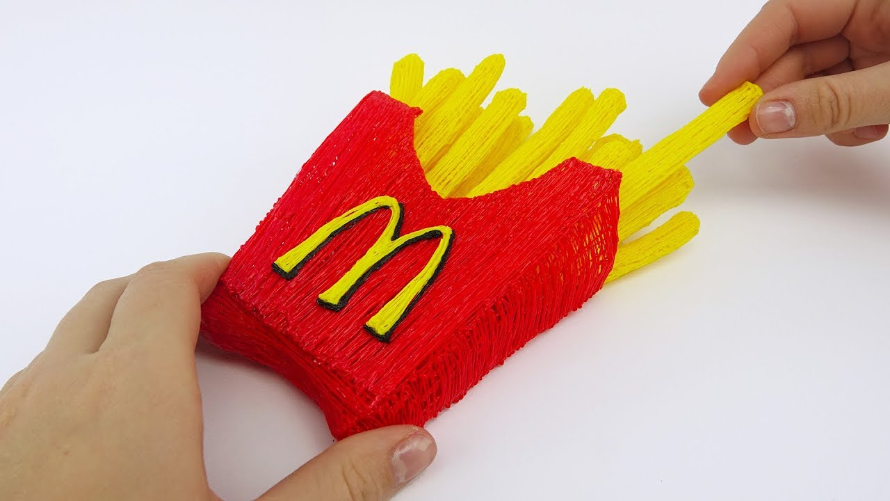 Mcdonalds French Fries Diy With 3D Pen 3D Pen Creations French Fries