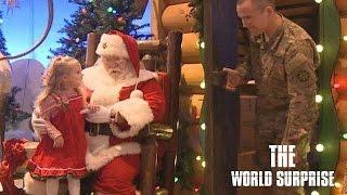 Santa Helps Soldier Dad Surprise Daughter