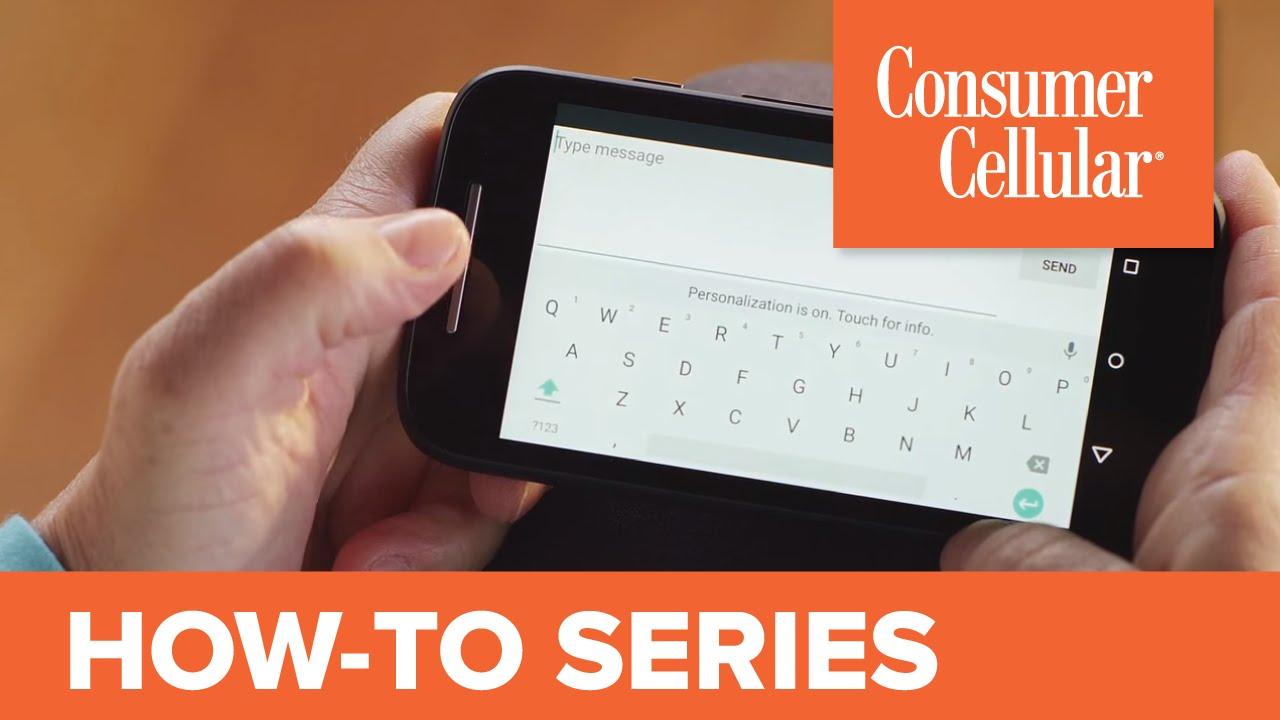 Motorola Moto E Lte: Sending And Receiving A Text Message (4 Of 12)   Consumer Cellular