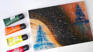Soyut Resim Teknikleri / Sanat Terapisi / Akrilik Boya / Zhc /Artist/Rahatlatıcı Video/ How to draw