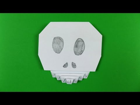 Origami Skull 💀 Paper Calavera   Easy Halloween DIY Decoration