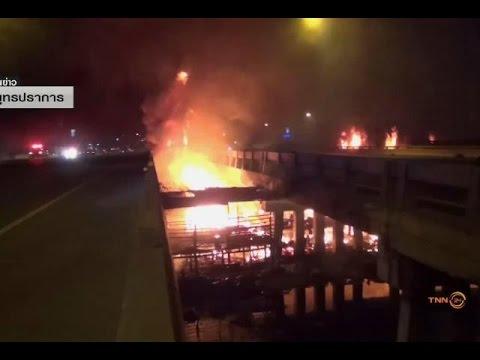 ไฟเผาวอดชุมชนย่านบางพลี ส่อกระทบบูรพาวิถี