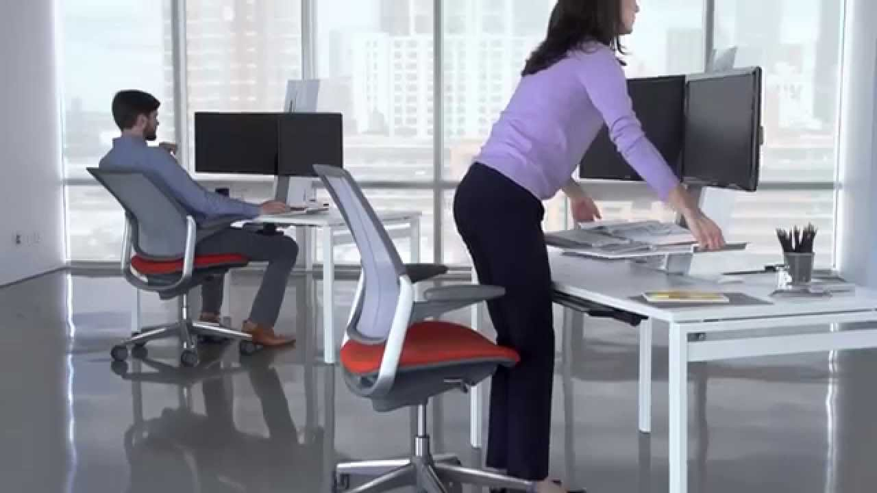 The Humanscale QuickStandTM Height Adjustable Workstation
