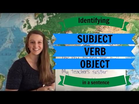 Identifying Subject, Verb, and Object in a Sentence