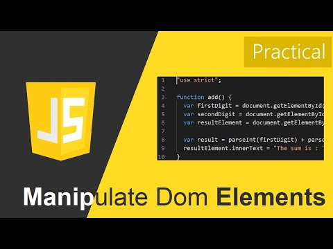 Manipulate Dom Elements