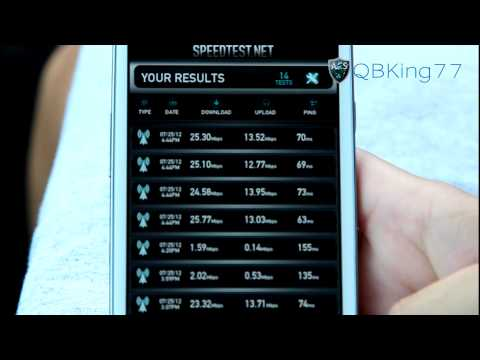 Sprint 4G LTE Speed Tests: Samsung Galaxy S III vs Galaxy Nexus vs HTC EVO 4G LTE