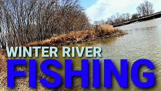 Winter river fishing a warm front