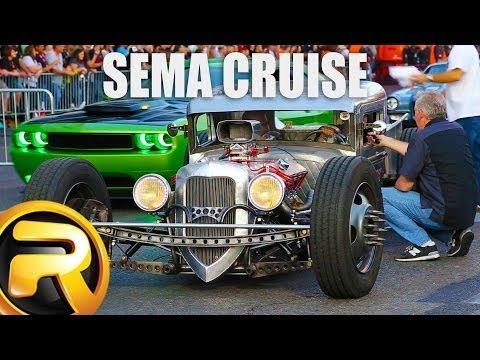 Leaving SEMA Show - 1 Hour of Custom Cars