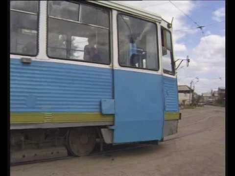 TRAMS TROLLEYBUSES IN ASTRAKHAN RUSSIA 1997