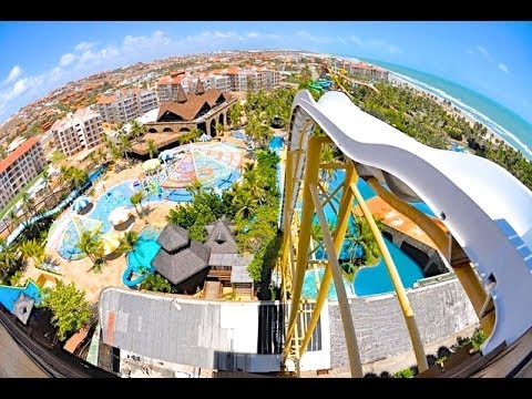 Hd Insano Water Slide Reverse Pov At Beach Park Fortaleza Brazil You