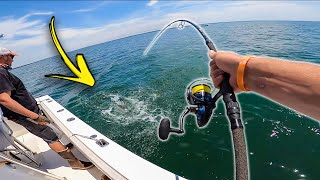 Most INSANE GIANT Topwater Bass Fishing! (Striped Bass on Cape Cod)