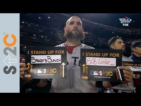 Jonny Gomes Stands Up To Cancer