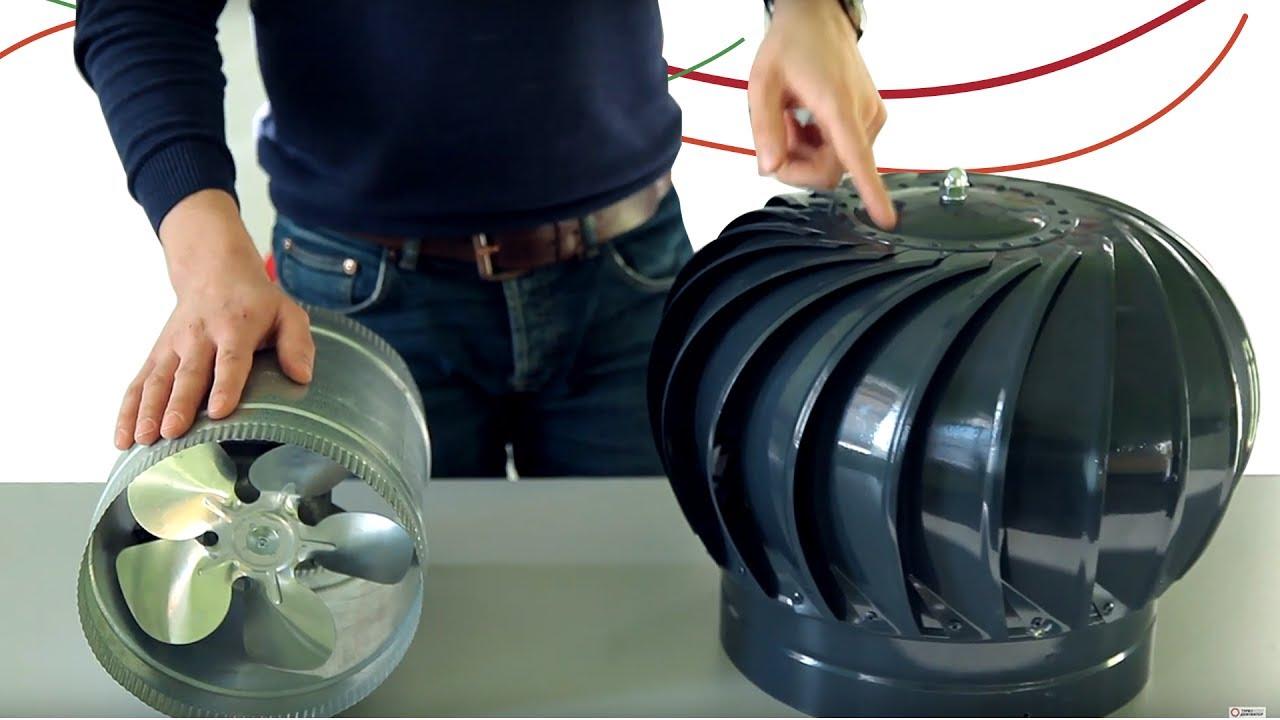Турбодефлектор на вентиляцию
