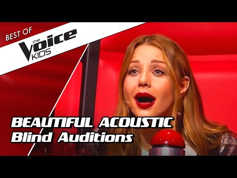 TOP 10  AMAZING ACOUSTIC Blind Auditions in The Voice Kids