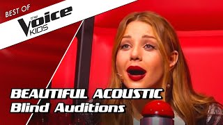 TOP 10 , AMAZING ACOUSTIC Blind Auditions In The Voice Kids