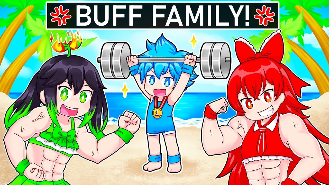 We Got Adopted By a BUFF FAMILY In Roblox!