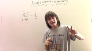 Řešení rovnic s neznámou ve jmenovateli