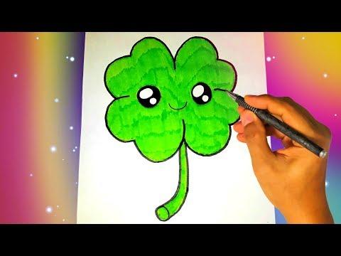 Как нарисовать клевер карандашом