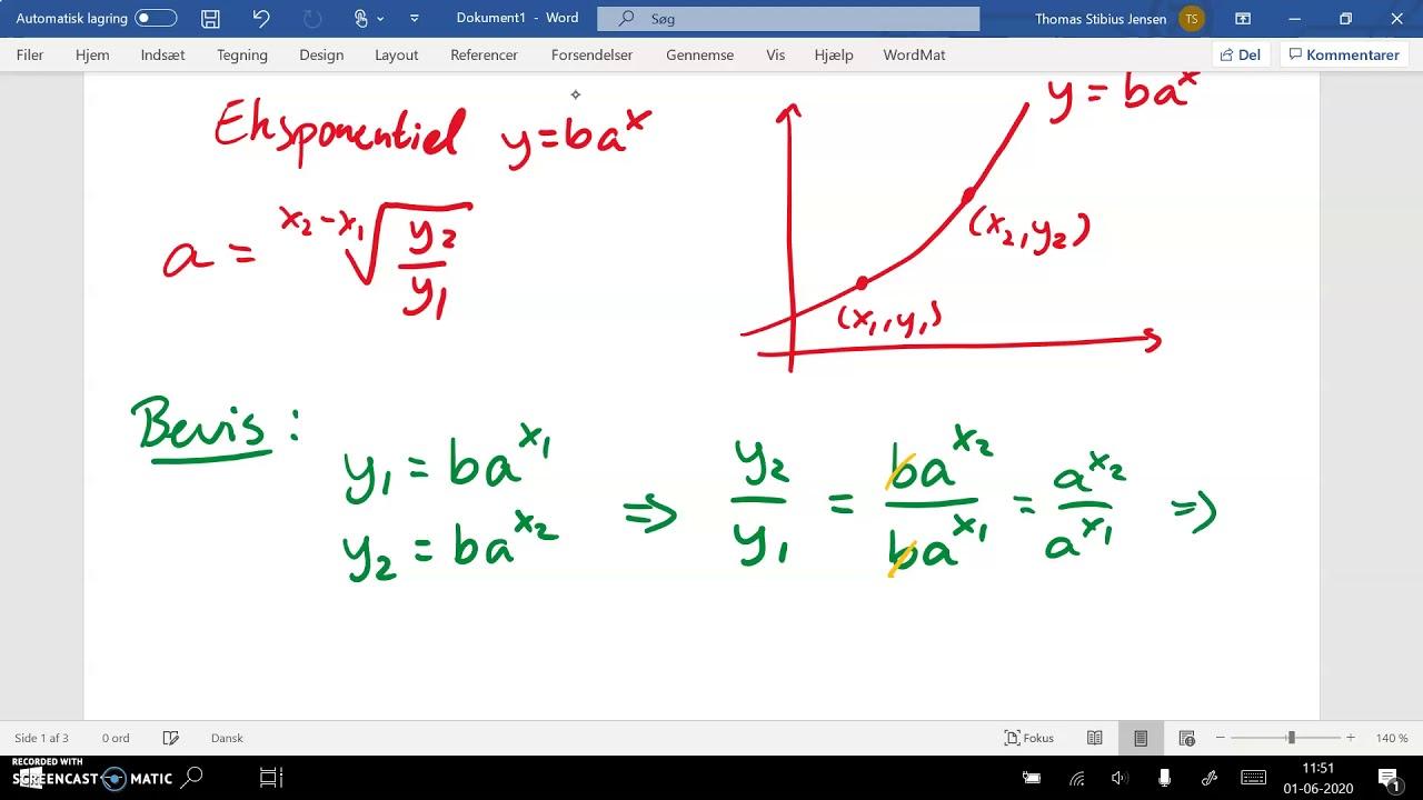 spg1 del2b topunktsformel eksponentiel
