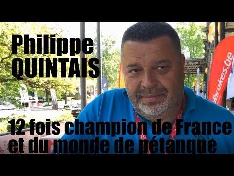 Philippe Quintais, 12 fois champion de France et du monde de pétanque