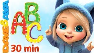 ???? ABC Song & Colors | Nursery Rhymes and Kids Songs by Dave and Ava ????