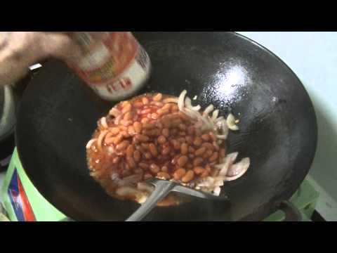 How to make good baked beans from a can