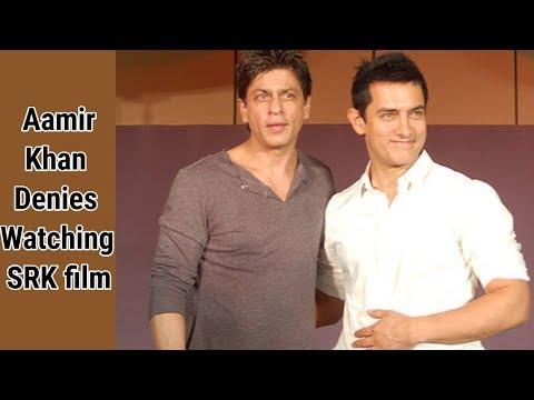 Aamir Khan Denies Watching Shahrukh Khan Film | B-Town Gossip