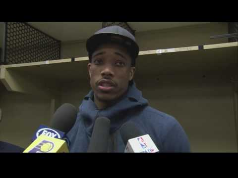 Demar Derozan Post Game Interview About Fight With Lance Stephenson   April 4, 2017