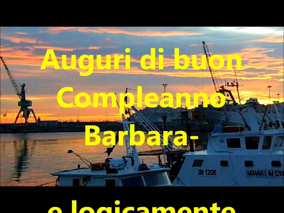 Auguri Barbara Youtube