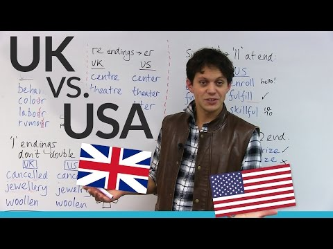 Differences between American & British spelling