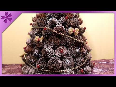 DIY Pine cones Christmas tree (ENG Subtitles) - Speed up #31