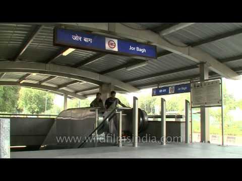 Delhi Metro: Jor Bagh on Yellow line