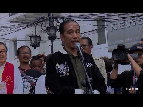 Naik Motor, Presiden Jokowi Hadiri Deklarasi Jabar Kondusif di Bandung Mp3