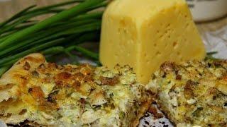 Греческий деревенский пирог с курицей  Рецепт выпечки