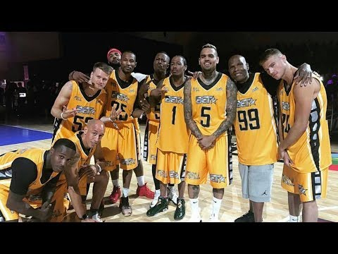 Chris Brown, Remy Ma, The Game, Nick Cannon and more square off at the bet celebrity basketball game