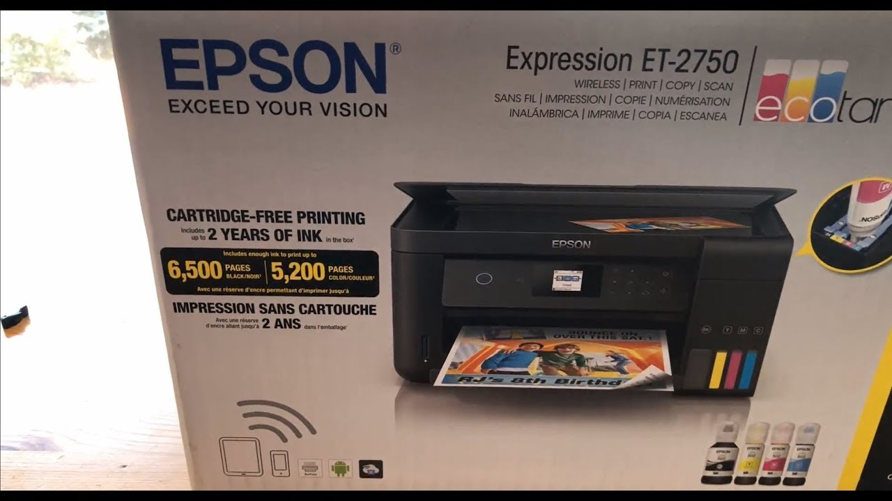 Epson EccoTank ET-2750 Unboxing and Overview