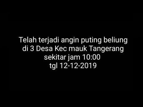 Angin Puting Beliung Mauk Tangerang
