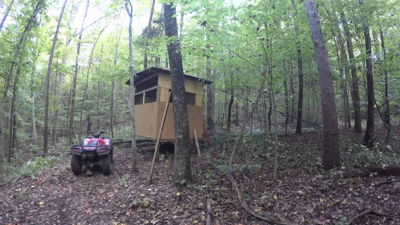 How To Build A Deer Blind Shooting Blind Youtube