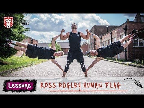 45 minute Human Flag - Ross Edgley | School of Calisthenics