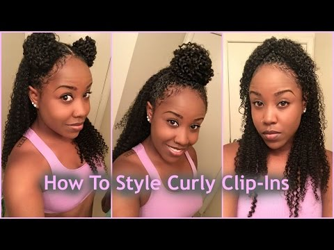 3 Ways To Style Clips Ins With Natural Hair ft. HerGivenHair Company