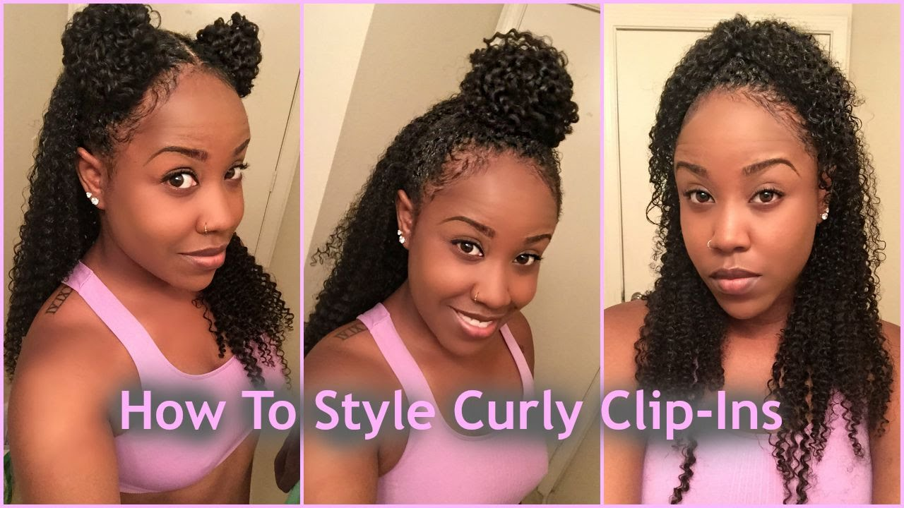 3 Ways To Style Clips Ins With Natural Hair Ft Hergivenhair Company