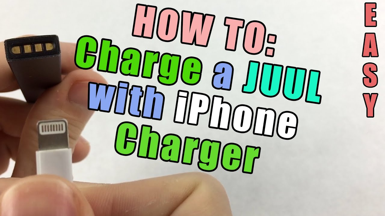 How To Charge A Juul Without A Charger Using An Iphone Charger Youtube