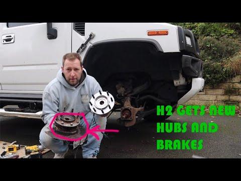 REPLACING BROKEN WHEEL HUBS AND BRAKES ON HUMMER H2