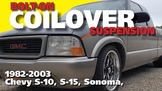 GM S10, S15 and Sonoma Coilover Suspension Installation