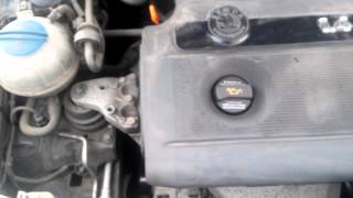 Работа двигателя Skoda Fabia 1.4 16V